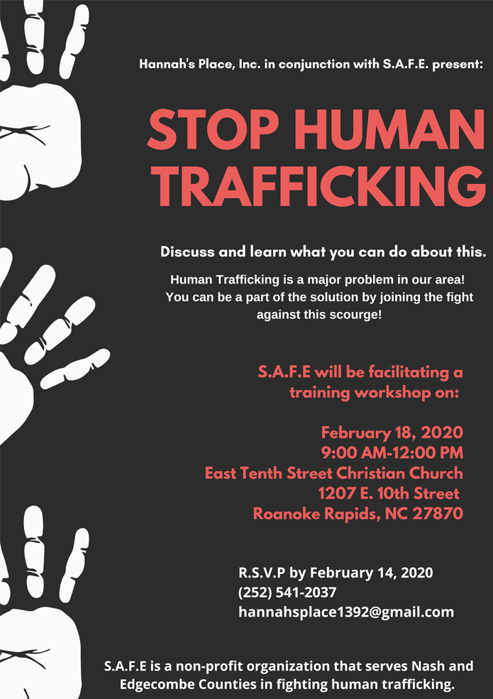 Stop Human Trafficking - Hannah's Place
